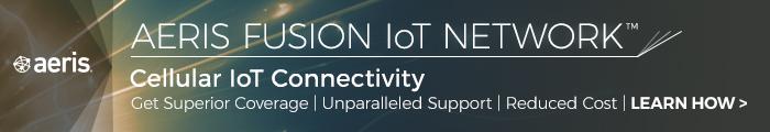 Aeris fusion IoT Network banner - digital transformation